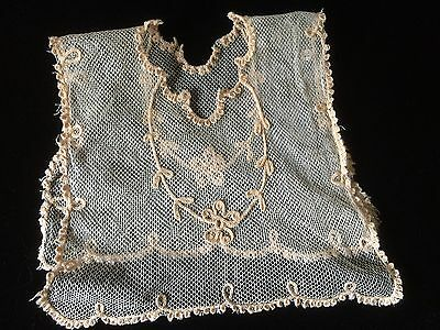 Antique Net Lace Trim Salvage Remnant Chemical For Dolls Projects
