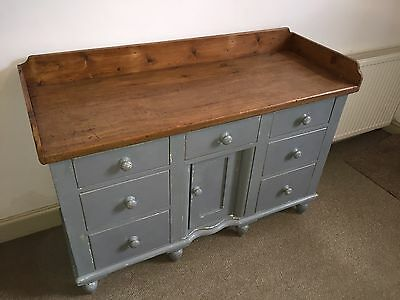 Beautiful Painted Victorian  Pine Dresser Base