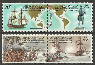 Norfolk Island 1979 Death Bicent of Captain Cook MNH