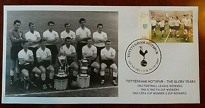 Tottenham Spurs 1962 FA Cup Double First Day Cover FDC 1961 League Champions