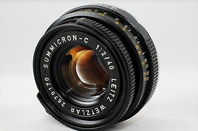 【Vintage Exc+++++】 Leica Summicron C 40mm f/2 Lens For CL CLE M Mount From Japan