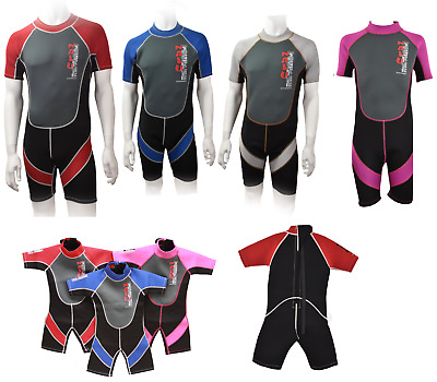 CHILDRENS to ADULT NALU SHORTIE SHORTY BEACH SURF NEOPRENE WETSUIT BOYS GIRLS