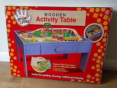 Childrens Kids Wooden Activity Play Table - Brand New in Box