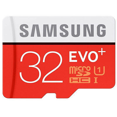 Samsung 32GB EVO+ microSDHC Tf  Flash Memory Card  80MBs For Mobile Phones New