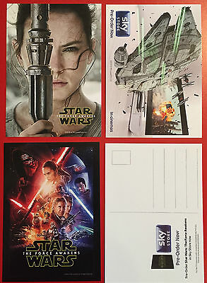 Star Wars  The Force Awakens Postcard Set of 3 All Different
