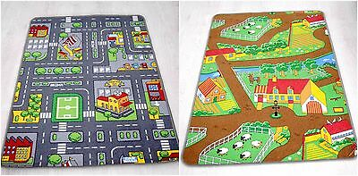Kids Play Mats Roads Farm Carpets Educational Fun Rugs Children's Reversible Mat