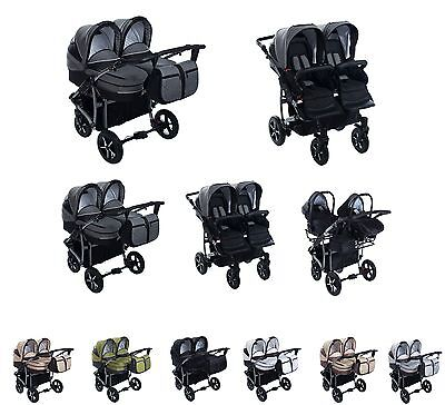 3 in 1 top kinderwagen f r zwillinge inkl 2x. Black Bedroom Furniture Sets. Home Design Ideas