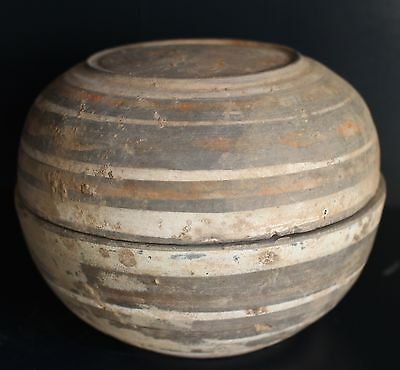 Painted Covered Han Dynasty Covered Bowl