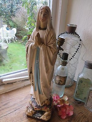 BEAUTIFUL VINTAGE FRENCH  PLASTER  STATUE / FIGURE  C. 1930's ~