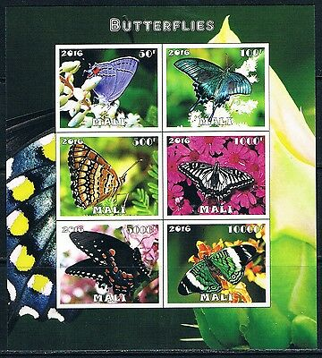 Bloc Sheet Papillons Butterflies IMP Neuf  MNH  ** Mali 2016 Private local/issue