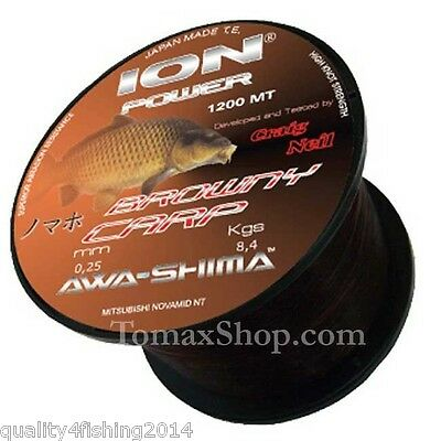 AWA-SHIMA ION POWER BROWNY CARP 1200mt. 0.30 fishing monofilament