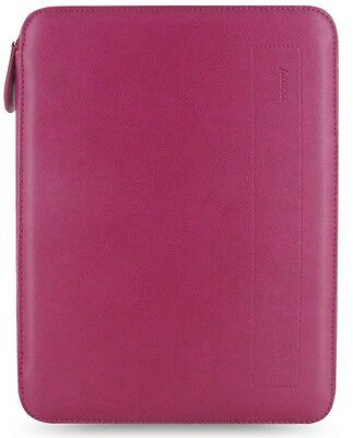 Filofax Pennybridge A5 Raspberry Folio Organizer Zip Pocket Pen Loop