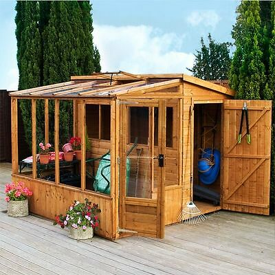 Garden Combi Shed & Greenhouse 8 x 8