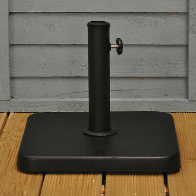 Square Metal Parasol Stand Base by Kingfisher