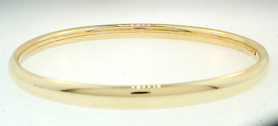 """9ct Yellow Gold Slave Bangle 6.75"""" 5mm Width"""