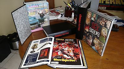 Cinema Retro Complete Magazine collection All 43 Issues in Binders + Signed Book