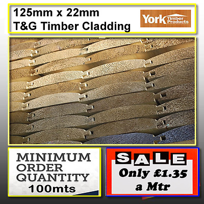 Top Quality 125mm x 22mm Log Lap Cladding Shed Cladding Stable Cladding