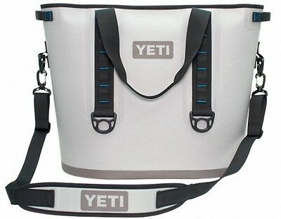 Authentic Yeti Hopper 20 Fog Gray / Tahoe Blue Cooler 100% Leak Proof Tough New!
