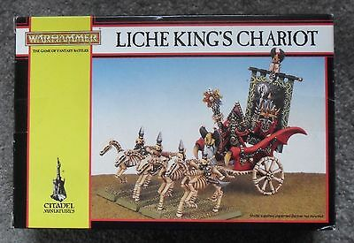 Warhammer Fantasy Undead Classic ARKHAN THE BLACK LICHE KING'S CHARIOT - BOXED
