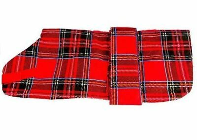 "Pennine Tartan Dog Coat - Red - 30cm (12"")"