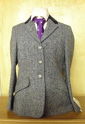 Pytchley Mears Childs Chase Black Tweed Riding Jacket Hunting/Showing