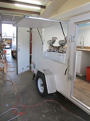 Food Truck Concession Cart Shaved Ice Snow Cone Trailer