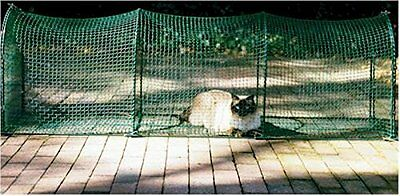 KittyWalk Deck & Patio Outdoor Outside Cat Enclosure Enclosed Play Pen Tunnel 6'