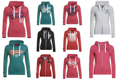New Womens Superdry Hoodies. Various Styles & Colours.
