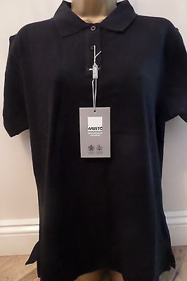 Musto Gorgeous Quality Ladies Navy Polo Shirt Size 16  Brand New - Bargain!
