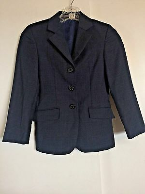 RJ CLASSICS Prestige Collection Girls 10R Riding Jacket Show Coat Navy Blue Wool