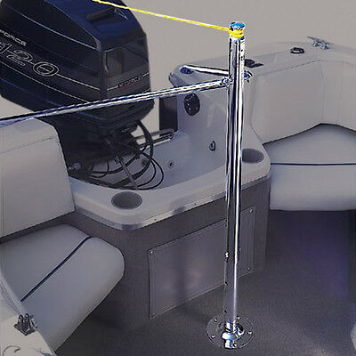 Stainless Steel Ski Wakeboard Height Adjustable Boat Water Ski Towing Pylon