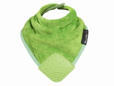 Super Absorbent Baby Bandana WONDER BIB WITH SILICONE TEETHER *LIME*