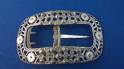 Dutch Silver .833 19th Century Buckle Reticulated & Embossed 2nd Quarter 19th C.