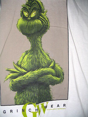 Dr Seuss Grinch Grinchwear White T Shirt M L Or Xl Brand New Very Rare