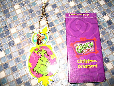 Dr Seuss Grinch Who Stole Christmas Ornament Max The Dog Brand New Very Rare