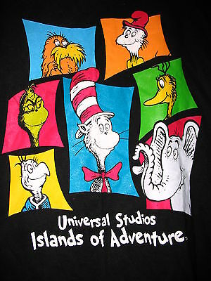 Dr Seuss Grinch Lorax Sam Cat Sneetch T Shirt Large  Brand New Very Rare
