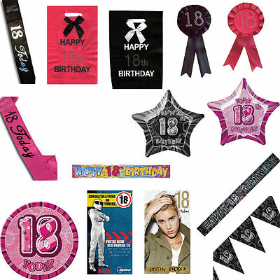 18th Eighteenth Birthday Accessory Selection NEW