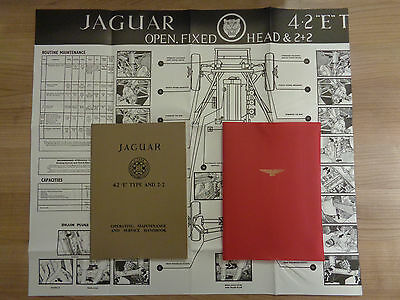 Jaguar E Type Series 1 Roadster/FHC/2+2 4.2 Owners Handbook/Manual and Wallet