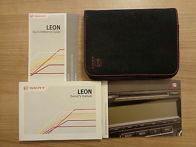 Seat Leon Owners Handbook Manual and Pack 12-15