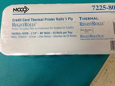 NCCO National Checking 7225-80 SP 80' Length x 2.25 2 1/4 1 Ply Thermal