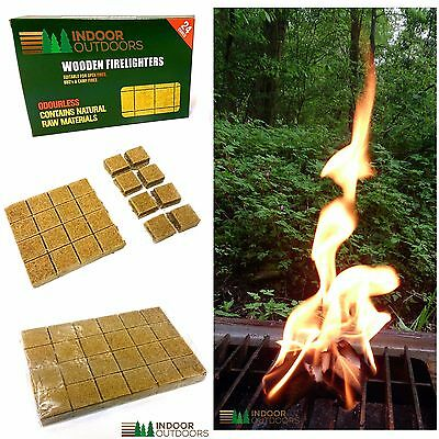 24 FIRE FIRELIGHTERS BBQ CAMP OVEN STOVE FAST CLEAN SMOKELESS FIRE LIGHTERS Raw