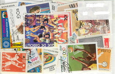 50 Basketball All Different Stamp Collection Lot
