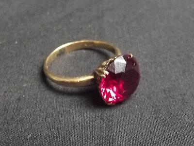 14Ct Gold Ruby Ring Size Q (US Size 8)
