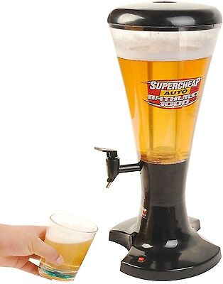 3L Draft Beer Tower Dispenser Plastic with LED Lights New