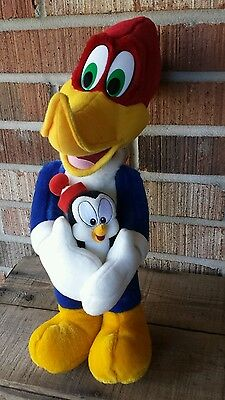 "18"" Large Plush Woody Woodpecker Chilly Willy Walter Lantz Universal Studios"