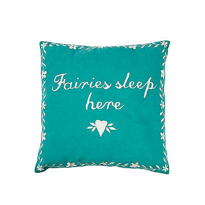 Fairies Sleep Here Fairy Cushion Pillow Floral Flower Childrens Nursery Decor