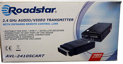 Roadstar 2.4 GHz AUDIO / VIDEO TRANSMITTER incl. Infrarot Remote Control