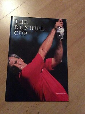 1989 The Dunhill Cup Championship Golf Programme