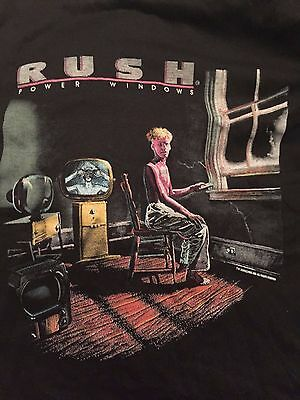 Rush Power Windows 1985/86 Original Vintage Concert T - Canadian Tour Dates