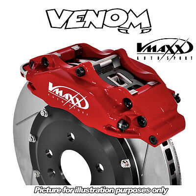 V-Maxx 330mm 4 Pot Big Brake Kit VW Jetta Mk2 (rear discs & ABS) (19E) (83-91)